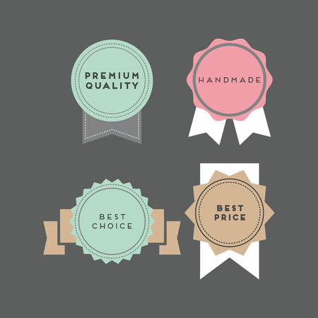 pastel colored: A set of retro inspired pastel colored labels