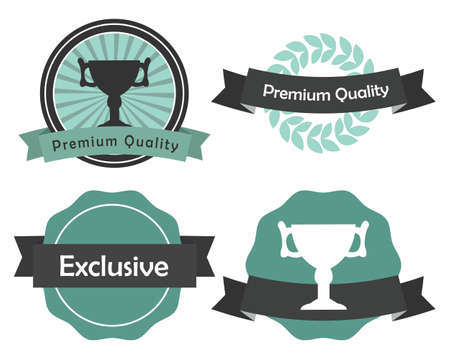 A set of labels, premium quality and exclusive Vector