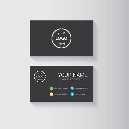 presentation card: Minimalistic and dark template for business card