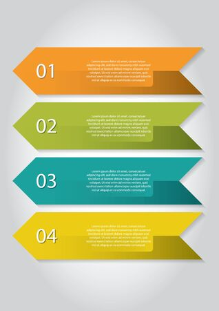 colourfull: Four colourfull and numbered infographic banners