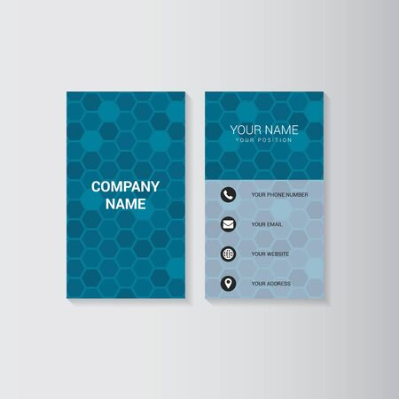 presentation card: Simple geometric template for business card