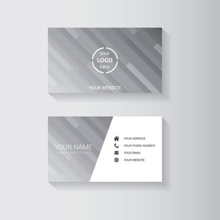 business card: Simple geometric template for business card