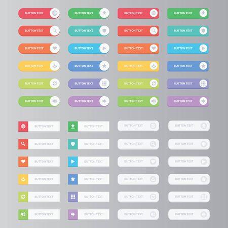 Un ensemble de boutons web
