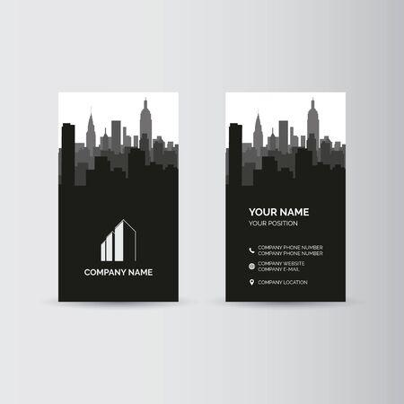 Simple geometric template for business card Vektorové ilustrace