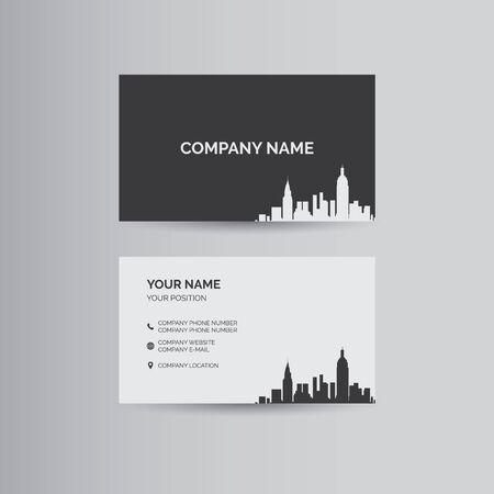 Plantilla geométrica simple para la tarjeta de visita Ilustración de vector