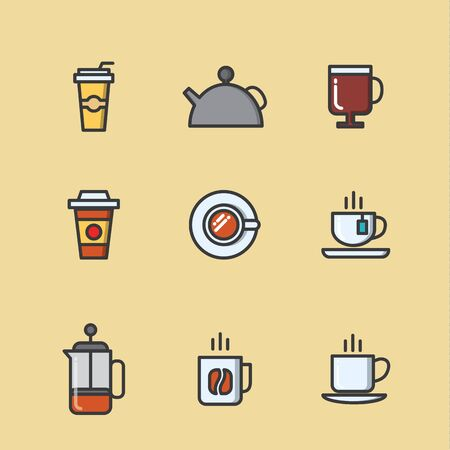 arabica: A set of coffee and tea related icons