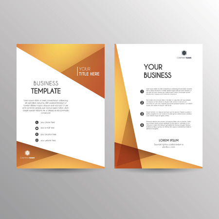 abstract letters: Template for business related brochures or reports