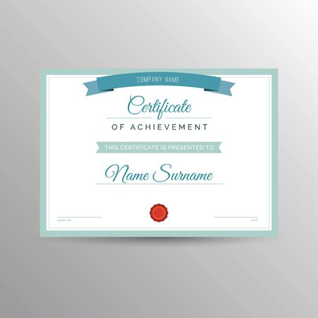 qualification: Simple certificate of achievement template