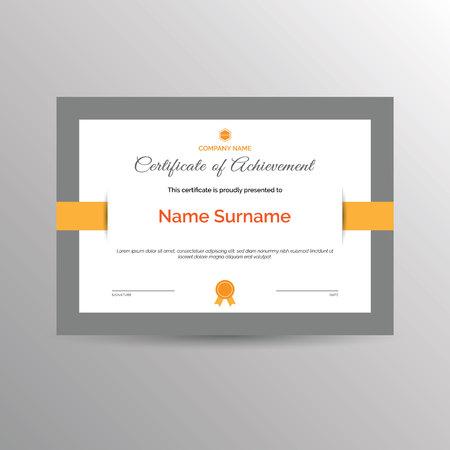 certificat simple de modèle de réussite
