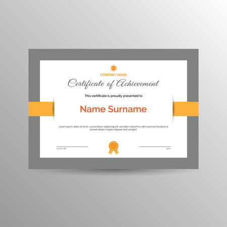 accomplishments: Simple certificate of achievement template