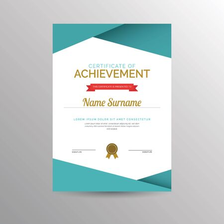 accomplishments: Simple certificate of achievement template