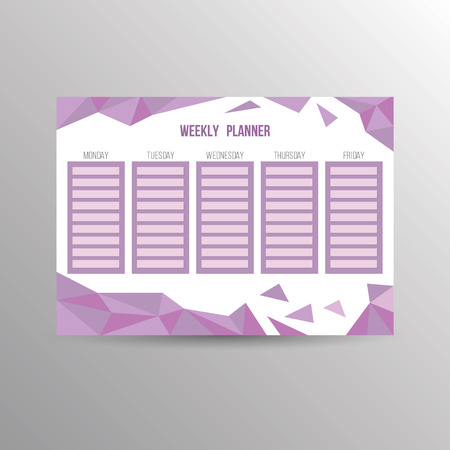 Weekly plannner template for organization