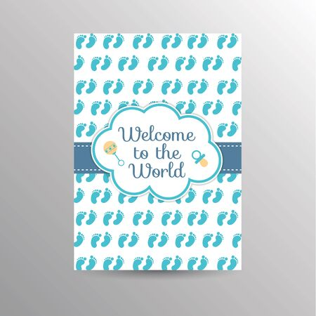 invite congratulate: Template for a baby shower invitation card