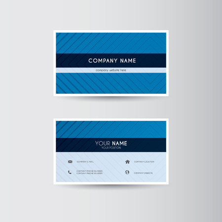 Simple geometric template for business card