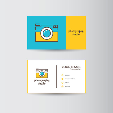 Simple template for photography business card Иллюстрация