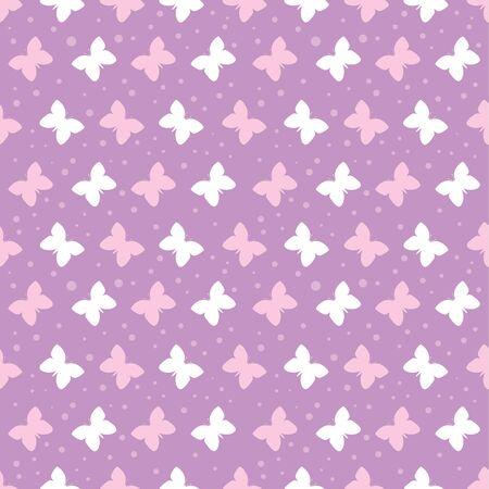 Seamless butterflies pattern for backgrounds Иллюстрация