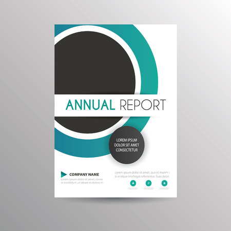 A Simple Brochure Circle Template For Business Cover Royalty Free