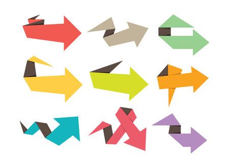 A simple set of colorful arrows Иллюстрация