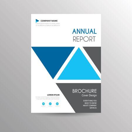 A simple geometric brochure template
