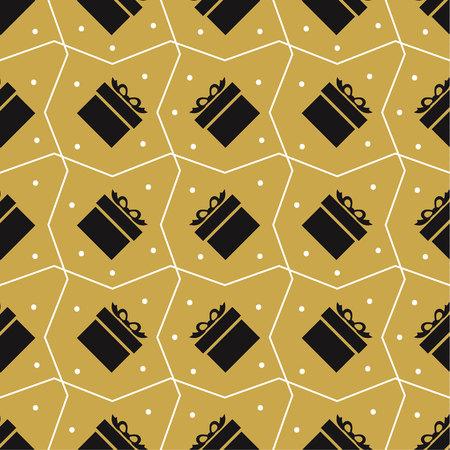 Gift pattern image on gold illustration design