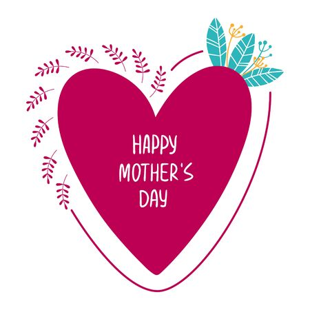 Vector illustration for mothers day. Vector poster.