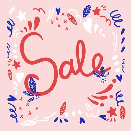 Sale banner in bright colors.