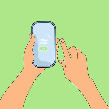 Digital detox in your phone.