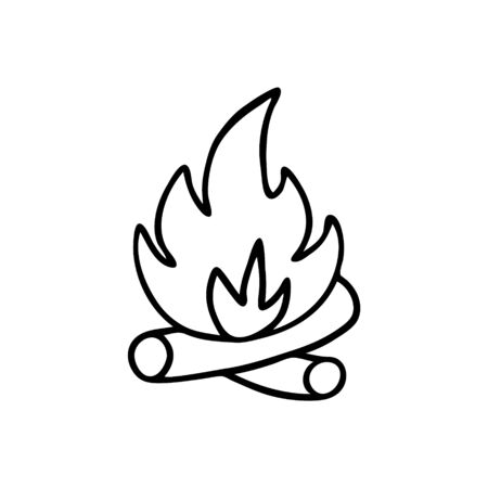 Vector illustration of fire in Doodle style.