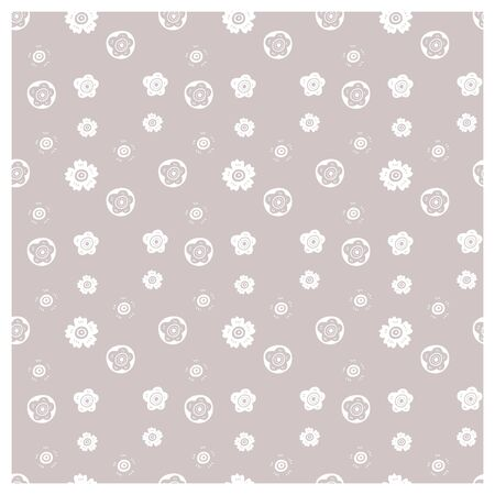 Minimalistic floral pattern. Seamless decorative vector pattern. Vecteurs