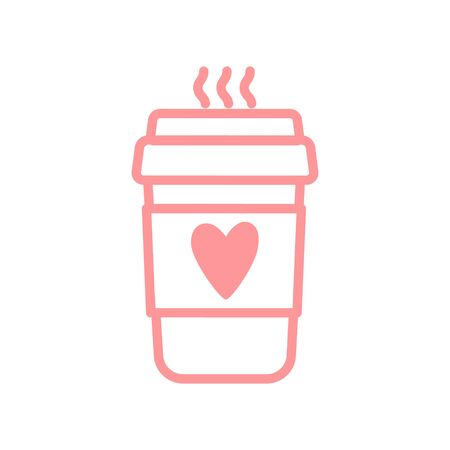 Vector illustration of a coffee Cup with a heart 向量圖像