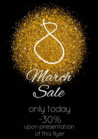 8 March Sales period with discount info on it.