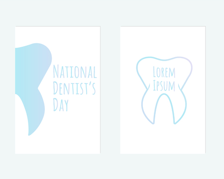 cary: Vector postcard of National Dentists Day for your design.