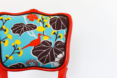 French Vintage Chair in Orange