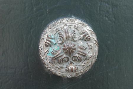 Ancient Bronze Doorknob Stock Photo