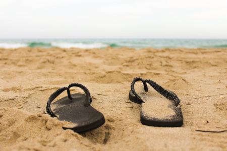 Sandals in the Coastline
