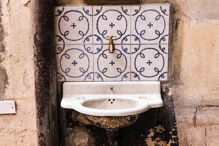 Vintage Washbasin background.