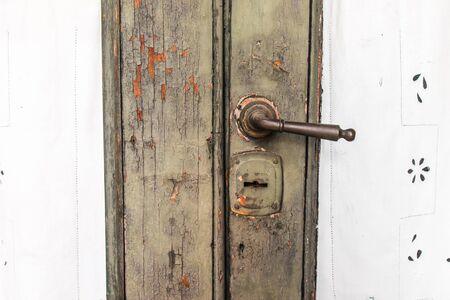 Vintage Door Handle Stock Photo