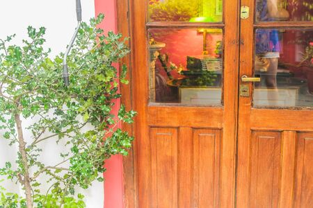 Vintage Door Detail Foto de archivo - 131832773