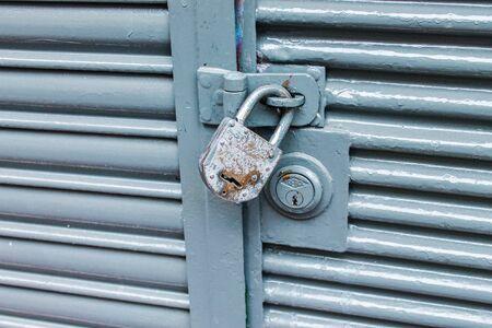 Padlock Vintage Door Detail Archivio Fotografico - 131833055