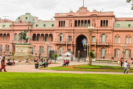 Casa Rosada Detail Archivio Fotografico - 131833722