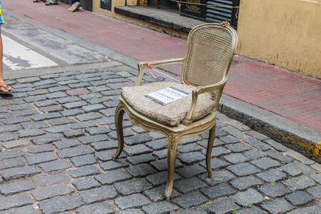 Ancient French Chair Archivio Fotografico - 134276251