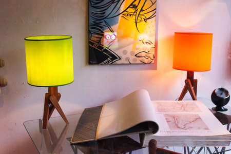 Vintage Interior Design Lamps Book
