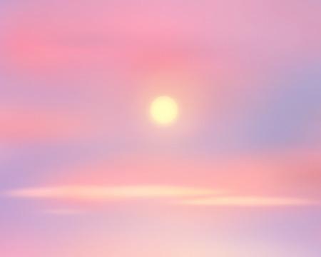 sunrise sky: Sunrise sky, sun rays on sky. Sky background. Digital painting, illustration