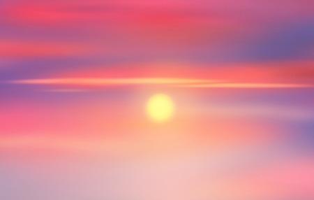 sky sun: Sunset sky, sun rays on sky. Sky background. Painting, illustration Stock Photo