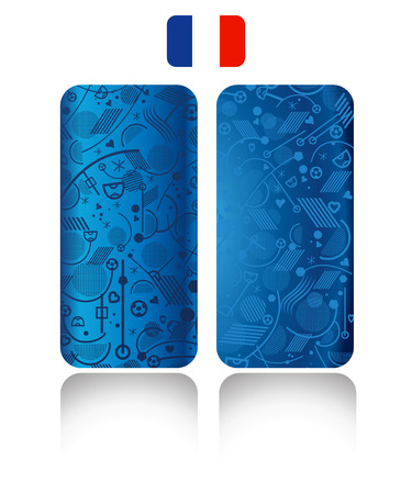 cases: Abstract Phone cases. Football Soccer blue color. concept.