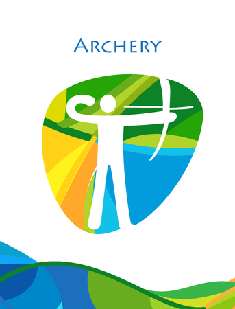 Archery abstract wallpaper.