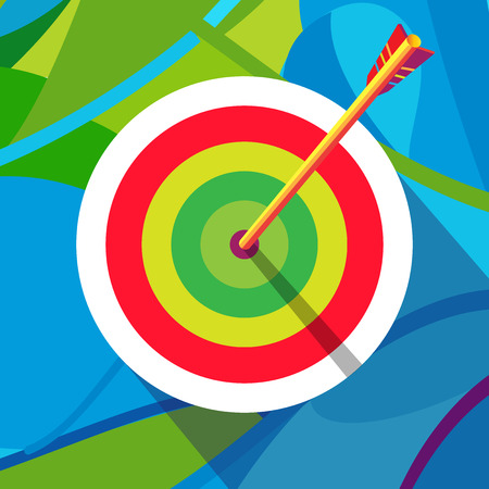 archery target: Archery Target abstract background.