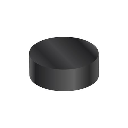 puck: Hockey puck on white background.