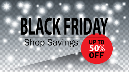 Black Friday. Black Friday Super Sale Banner Design for shop, online store. Discount up to 50% off. Shop Now. Vector illustration. Magic Christmas background.