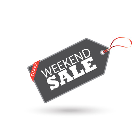 house clearance: Price tag banner. Weekend Sale Tag Price poster. Tag.  Vector Tag label. Label tag. Ribbon tag. Tag symbol. Tag Sale Holiday. Tag Shopping card. Tag coupon. Tag Vector. Tag icon. Advertising. Holiday sale banner. For Black Friday, Cyber Monday, Christmas
